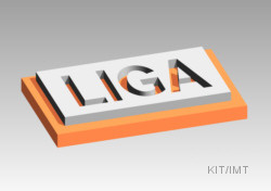 LIGA-process: Metal micro structure on substrate